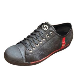 Gucci Men's Black coated canvas trainers