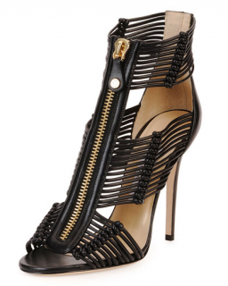 Jimmy Choo Katie Strappy Zip-Front Sandals