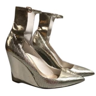 Burberry Prorsum Crayford 110 Silver Python Sandals