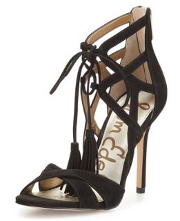 Sam Edelman Azela Strappy Suede Tassel Sandals