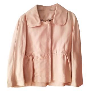 Marmara silk frilled jacket