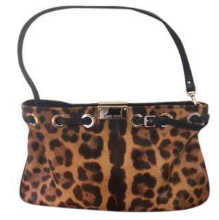 Jimmy Choo leopard print calf skin bag