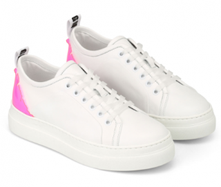 MSGM Leather & Plexi Sneakers