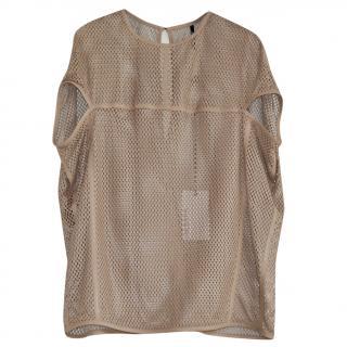 Neil Barrett oversized leather top