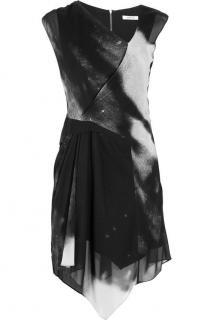 Helmut Lang Printed stretch-silk dress
