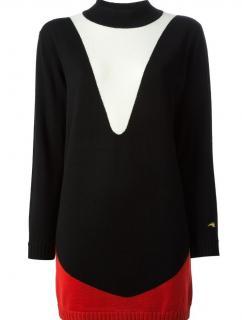 Bella Freud merino wool colour block jumper dress