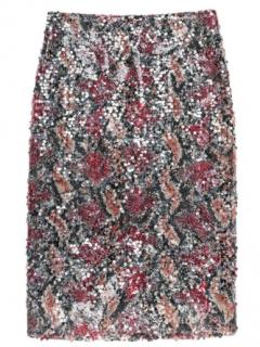 Nicole Miller Carter Snake Sequin Skirt