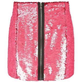 Markus Lupfer Hologram Pink Sequin Skirt