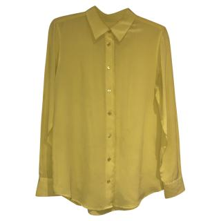 Equipment canary yellow silk shirt