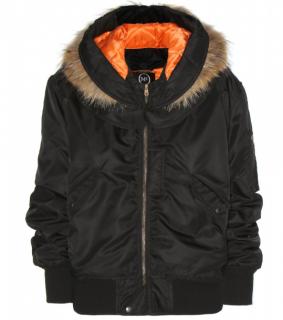 MCQ Fur Trimmed Satin Twill Bomber Jacket