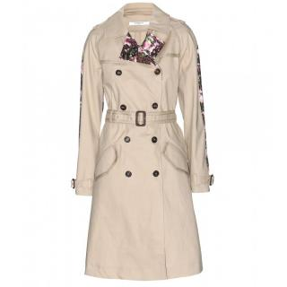 Givenchy Floral Trim Trench Coat