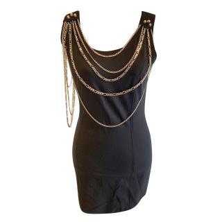 Pierre Balmain Black Multi Chain Dress