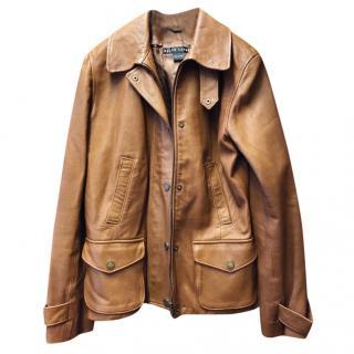 Ralph Lauren Tan Leather jacket