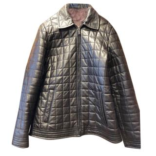 Mulberry Chocolate Brown quilted leather jacket
