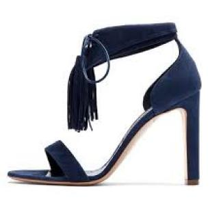 Rupert Sanderson Countess Bluebonn Suede Sandals
