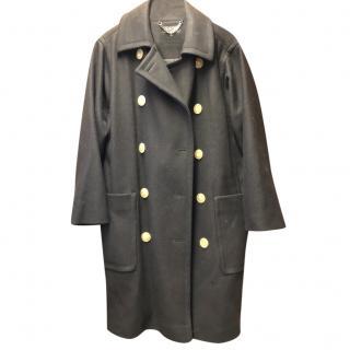 Jaegar Black Wool Double Breasted Coat