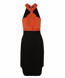 Roland Mouret 'Dalefield' Two-Tone Crepe Dress (Runway Collection)