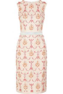 Erdem Mallory Crystal Embellished Duchess Satin Dress