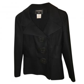 Chanel Vintage Double Breasted Black Jacket
