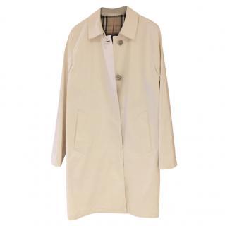 Burberry classic white rain coat
