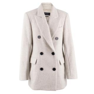 Isabel Marant Alpaca Wool-blend Double Breasted Coat
