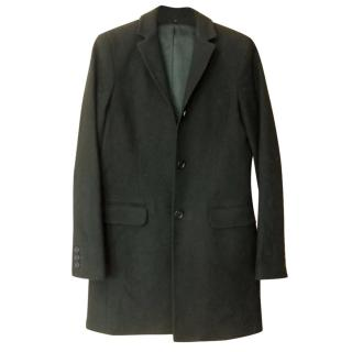 Theory Black Wool Boyfriend Coat