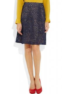 Carven Cotton-Blend Lace Skirt