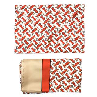 Burberry Limited Edition SS19 Show Gift Monogram Silk Scarf & Pouch
