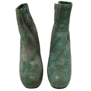 Rick Owens Limited Edition  Green Ankle Boots