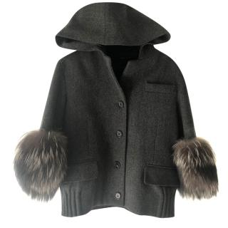 Marc Jacobs fur trimmed Jacket