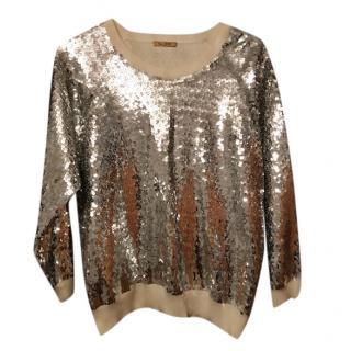 Peter Jenson silver sequin sweater