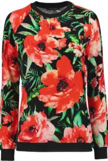 Balmain Floral Velvet Top
