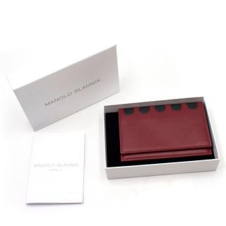 Manolo Blahnik VIP Red Leather Passport Holder