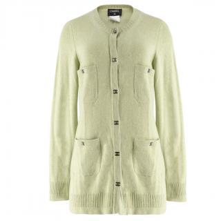 Chanel Green Cashmere Cardigan