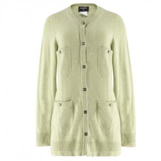 Chanel Green Cashmere Cardigan