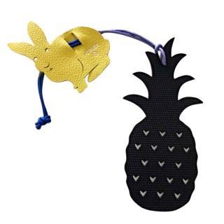 Hermes Petit H Pineapple & Bunny Bag Charm