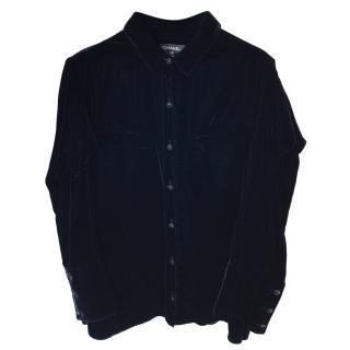 Chanel Black Velvet Shirt
