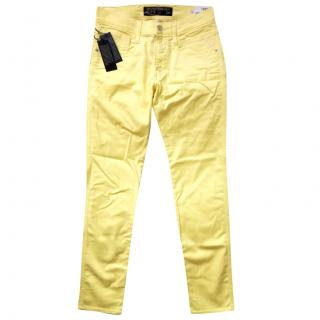 Replay Yellow Denim Slim Fit Jeans W29 / L32