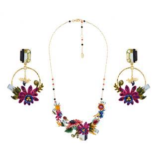 Les Nereides Handcrafted French Glazed Enamel Jewellery Set