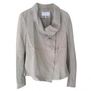 Muubaa beige leather jacket