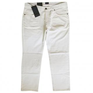 JOOP! - Straight Leg White Cotton Pants