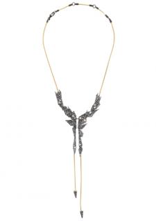 Alexis Bittar Crystal Encrusted Origami Bib Necklace