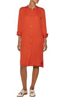 Stella McCartney Orange Silk Shirt Dress