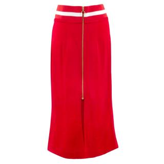 Maggie Marilyn Fluted Hem Crepe Skirt