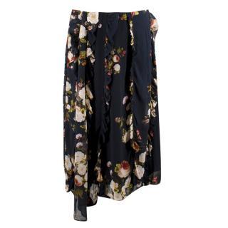 Preen Line Elaine Floral Chiffon Skirt
