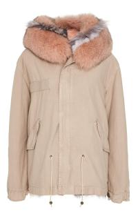 Mr & Mrs Italy pink fur lined parka