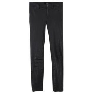 J Brand Super-skinny Mid-rise Leather Legging
