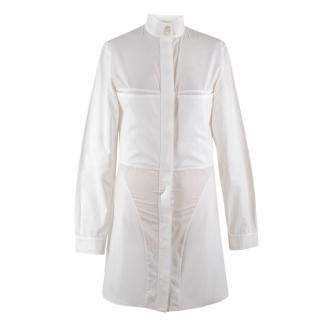 Stella McCartney White High Neck Shirt Dress