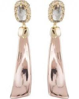 Alexis Bittar 14k Gold Plated Crystal Drop Earrings