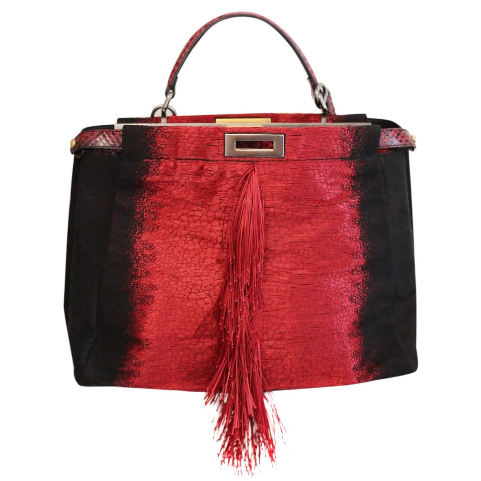f0b1fc26b27 Fendi Peekaboo Fringe Tote Bag   HEWI London